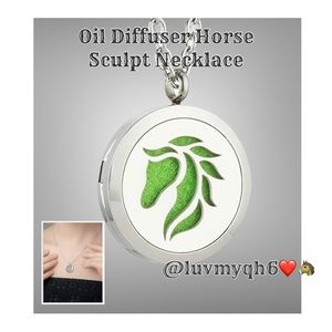 Oil Diffuser Horse Necklace NEW